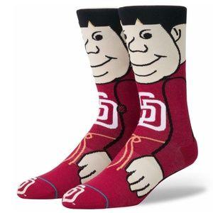 Stance Swinging Friar - San Diego Padres Socks - L